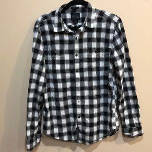 Lucky black label plaid shirt